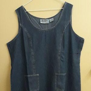 Demin Du Jour 2X jumper dress maxi sleeveless
